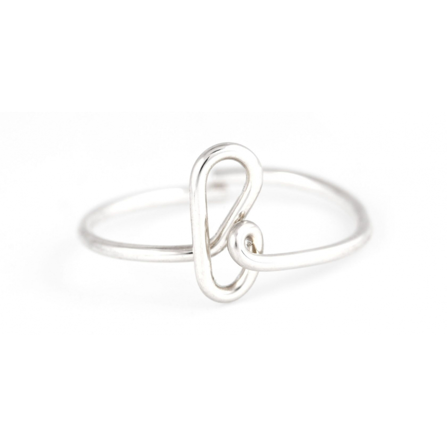 Letter ring in silver Atelier Paulin