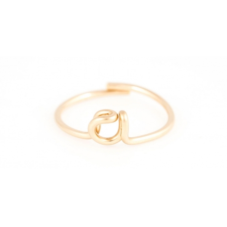 Letter ring in yellow gold-filled 14K Atelier Paulin