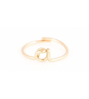 14K yellow ring
