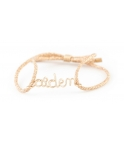 Customized children cord bracelet in yellow gold-filled 9K Atelier Paulin