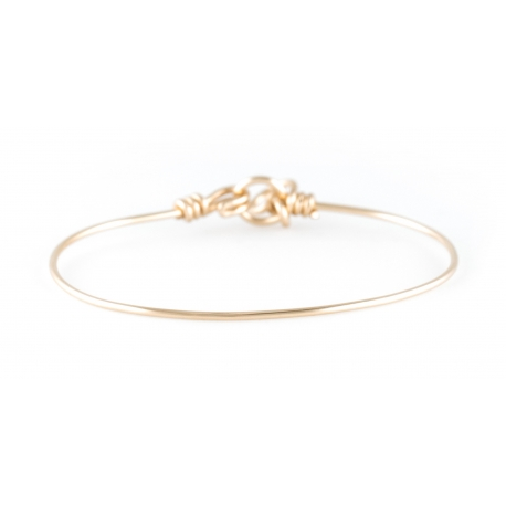 Pure nude bracelet in yellow gold-filled 14K Atelier Paulin
