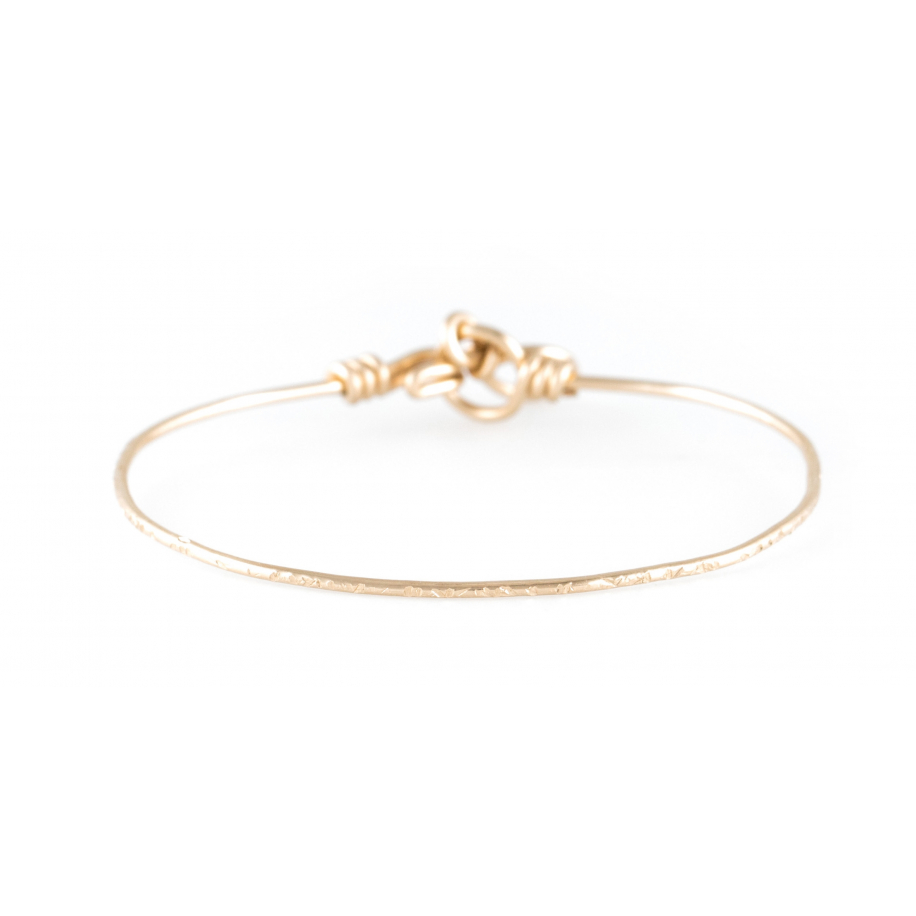 Hammered nude bracelet in yellow gold-filled 14K Atelier Paulin