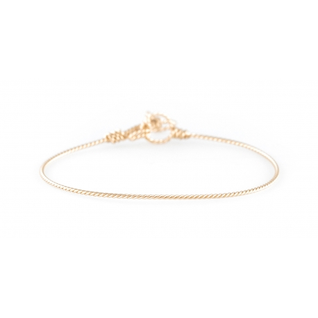 Twisted nude bracelet in yellow gold-filled 14K Atelier Paulin
