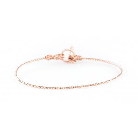 Bracelet nude torsadé en gold-filled 14 cartas rose Atelier Paulin