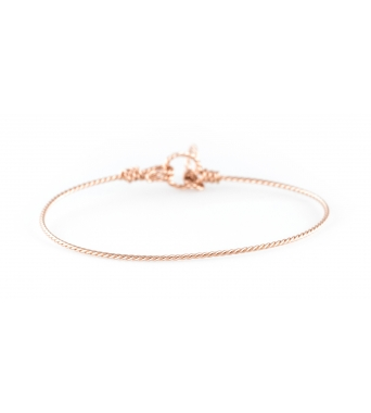 14K twisted rose gold bracelet