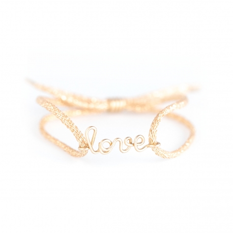 """love"" children cord bracelet Atelier Paulin"