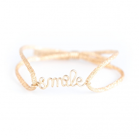 """smile"" children cord bracelet Atelier Paulin"