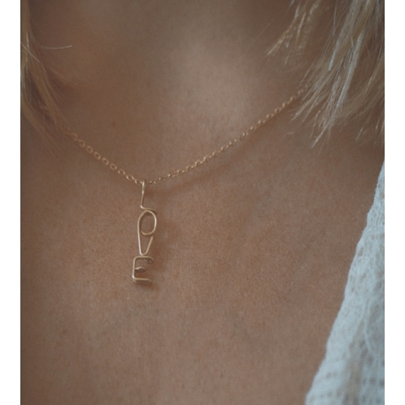 """ATELIER PAULIN  """"Official writing"""" Love necklace"""