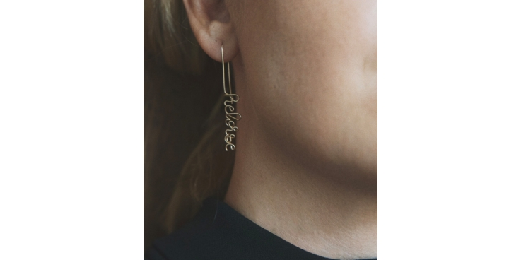 ATELIER PAULIN |Custom Drop earring 14K