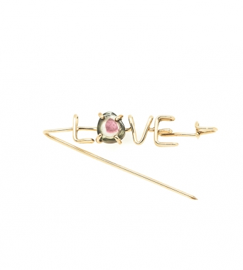 Emotion Stone Capital Love Brooch