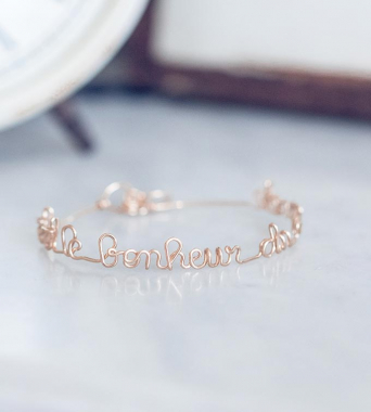 Mantra Bracelet Personalized 14K