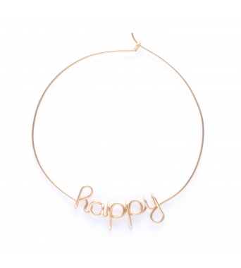 Hoops Happy - 14k jaune