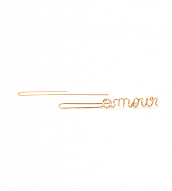 Suspendues Amour - 14k rose