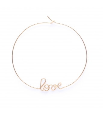Hoops Love - 14k yellow
