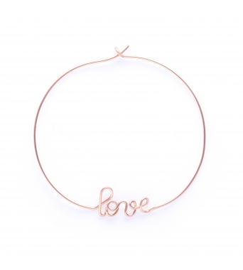 Hoops Love - 14k rose