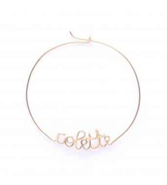 Customizable hoops 14K Yellow
