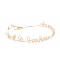 Mantra Bracelet Personalized 14K yellow