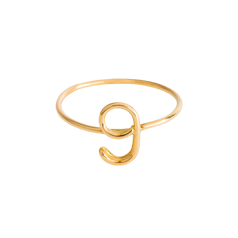 Capital Numerology Ring | Atelier Paulin