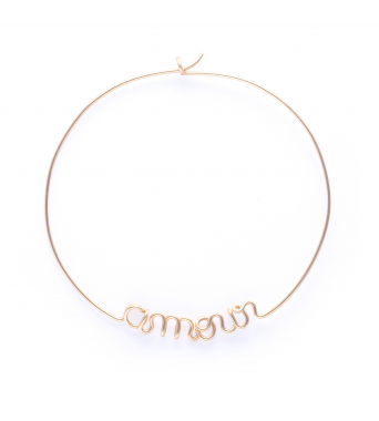 Hoops Amour - 14k jaune