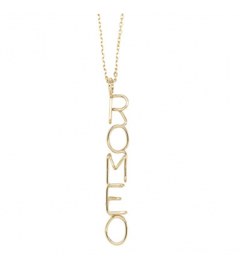 Personalized Capital Necklace