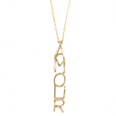 "ATELIER PAULIN |""Official writing"" Amour necklace"