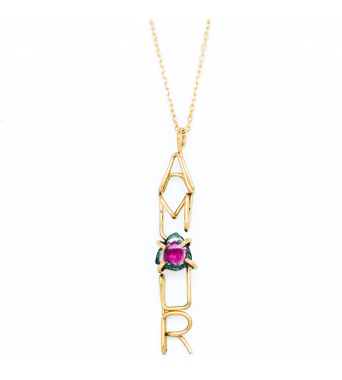 Capital AMOUR Emotion Stone Necklace