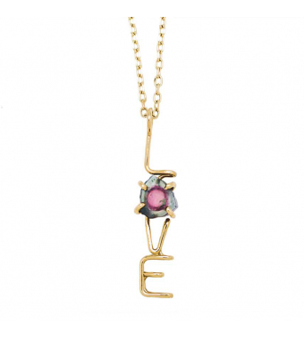 Capital LOVE Emotion Stone necklace