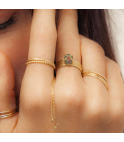 Nude Chiselled Ring M