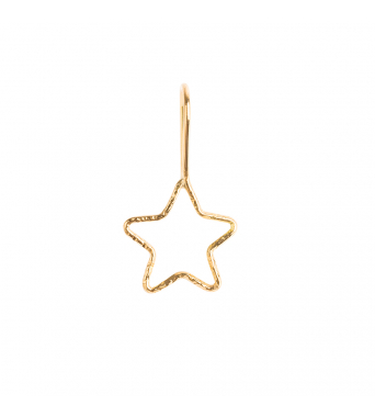 Nude Chiselled Mini Star Dangling Earring