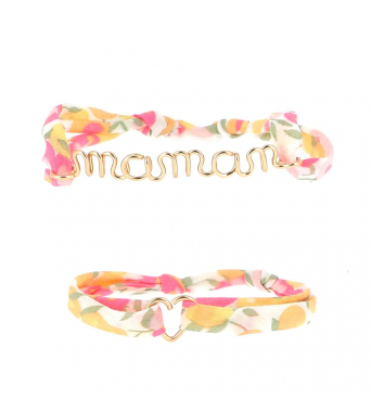 "Duo Bracelets Mother's day ""Maman"""