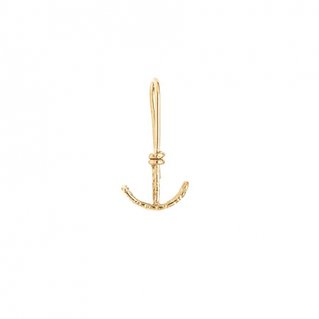 Anchor earring chiseled