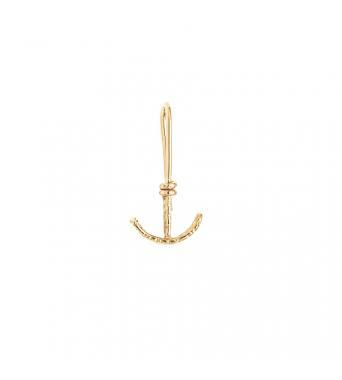 Nude Textured Anchor Dangling Earring