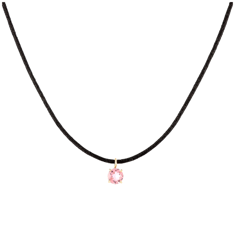 Collier Charms Tourmaline - Rond - Atelier PAulin