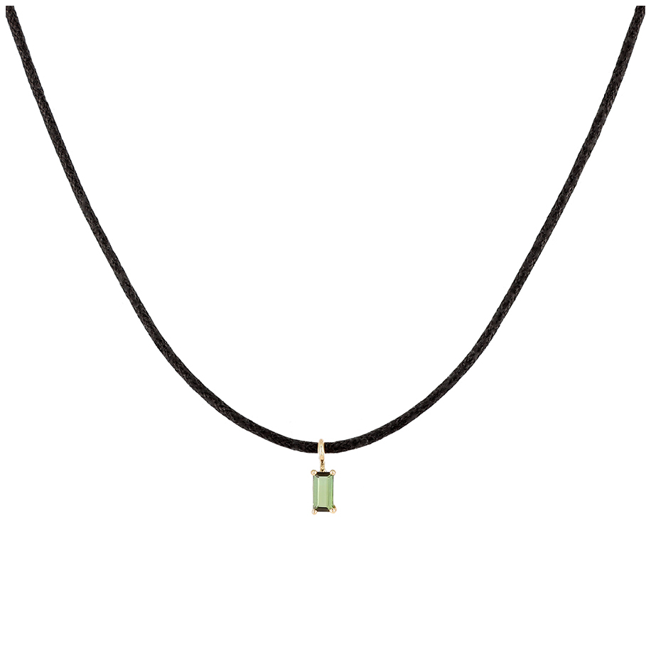 Tourmaline Charms Necklace - Trillion