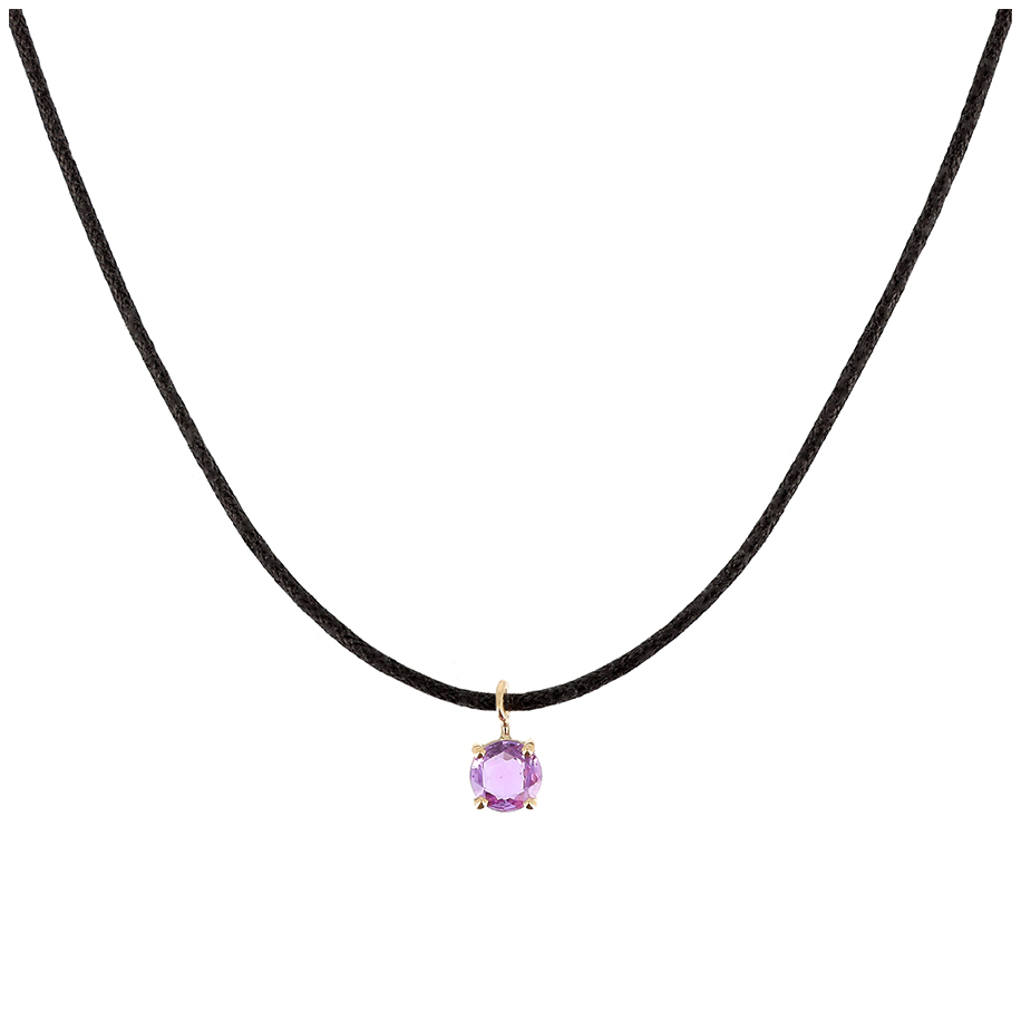Collier Charms' Saphir - Rond
