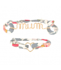 Liberty Duo Bracelets - Mum Heart