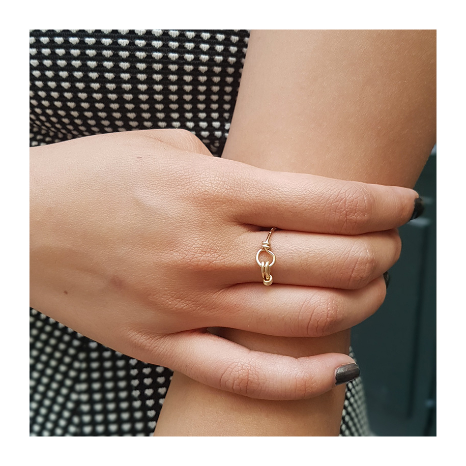 Hammered Nude Ring