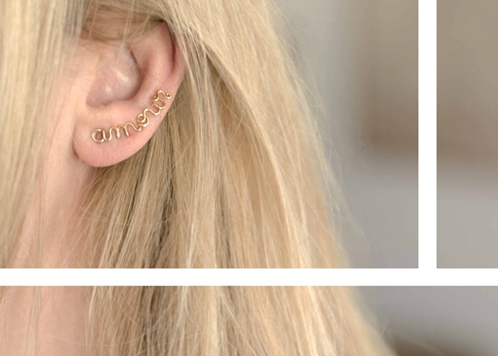 "EARCUFF ""let's rock"""